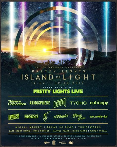 lights all lineup 2017 pretty lights details 2017 island of light lineup