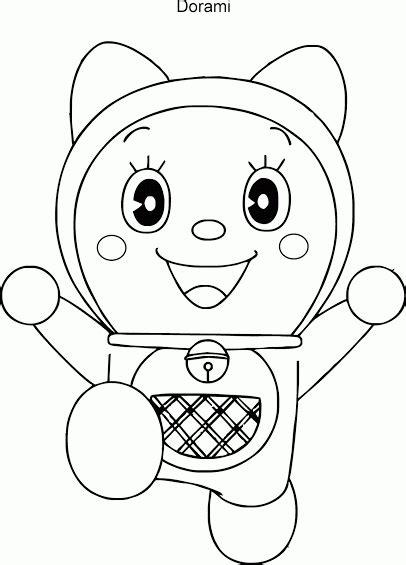 Mewarnai Gambar Dorami Adik Doraemon - Contoh Anak PAUD