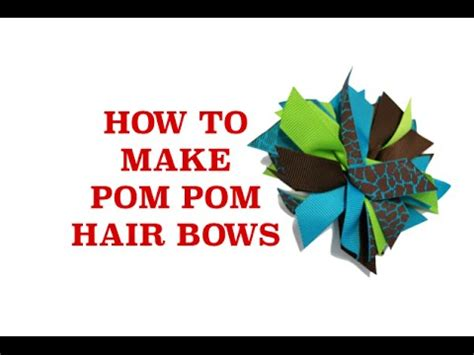 How To Make Cheerleading Pom Poms Out Of Crepe Paper - how to make cheer bows how to make a cheer bow pom pom