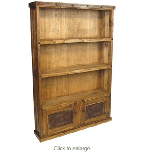 rustic bookcase with doors rustic wood bookcase with iron door inserts and nailheads
