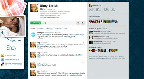 layout of twitter page portfolio sweetsop design