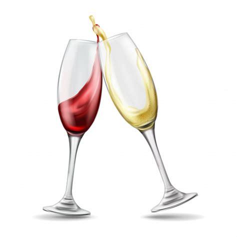 foto bicchieri brindisi due bicchieri di con spruzzata di rosso e bianco
