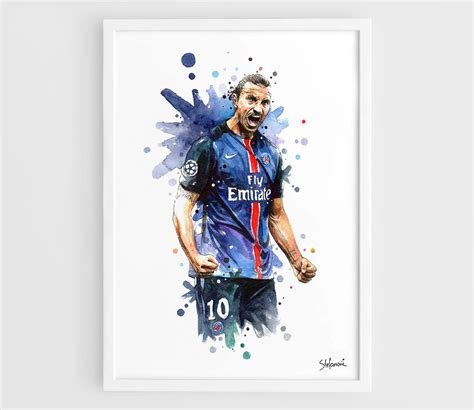 Football Artwork Messi 1 zlatan ibrahimovic psg a3 wall print poster of the
