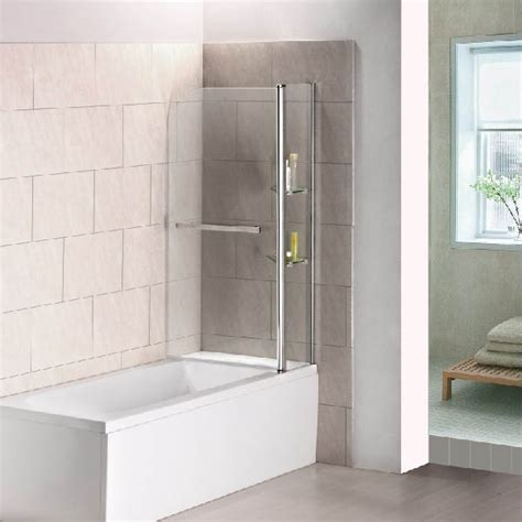 Shower Screens Folding Overbath Shower Screen Aica Bathroom Shower Screens