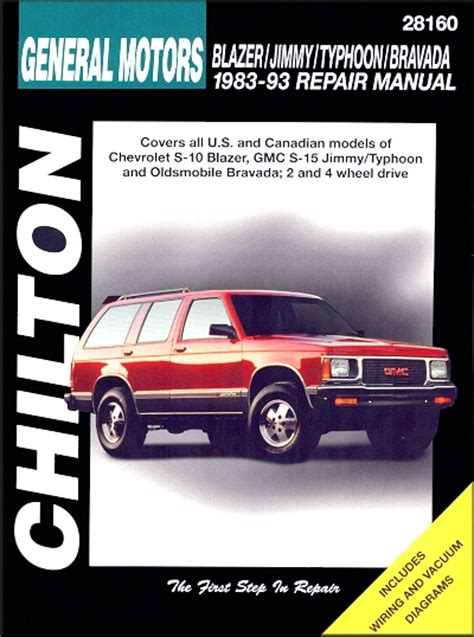 s 10 blazer s 15 jimmy typhoon bravada repair manual 1983 1993