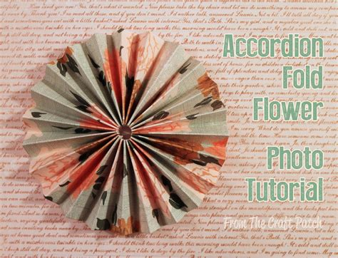 Folded Paper Flowers - the craft patch accordion fold paper flowers