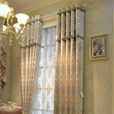 white luxury curtains style gold quality white fashion jacquard cloth luxury