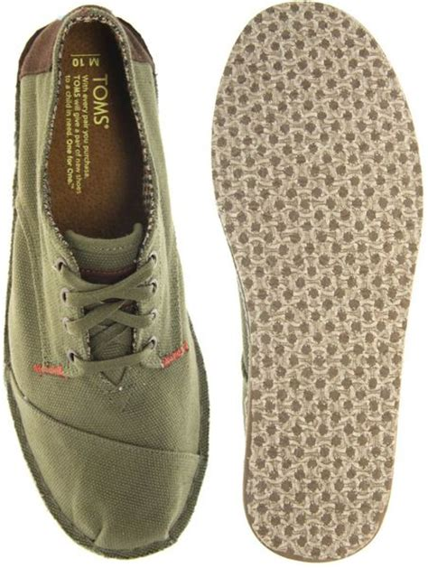 toms oxford shoes toms desert oxford canvas shoes in green for lyst
