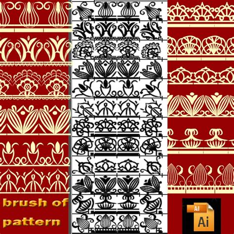 illustrator pattern brush download illustrator pattern brushes free patterns