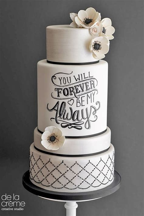 Black Wedding Cake Flowers by 30 Black And White Wedding Cakes Ideas White Wedding