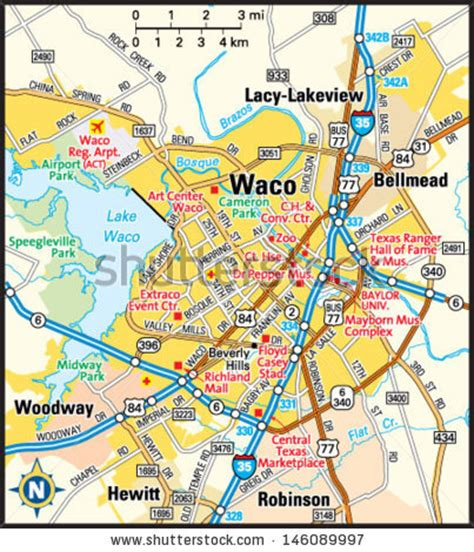 waco texas map map of waco texas and surrounding area my