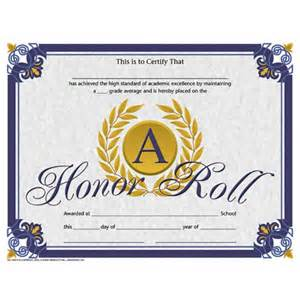 free honor roll certificate template a honor roll student certificate teaching end of the