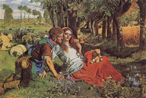 by william holman hunt the hireling shepherd den hireling f 229 raherde william holman hunt olja m 229 leriet
