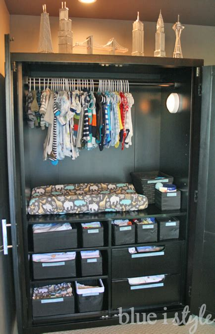 Baby Armoire Closet by Organizing With Style Armoire Baby Central Blue I Style
