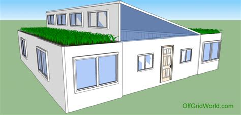 living roof solar system 1440sqft 3br 1ba shipping container home with living roof