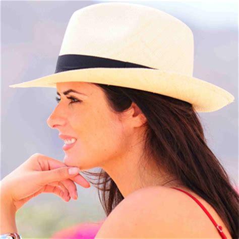 coloured panama hats