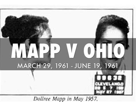 Map V Ohio by Mapp V Ohio By Amy Czachowski