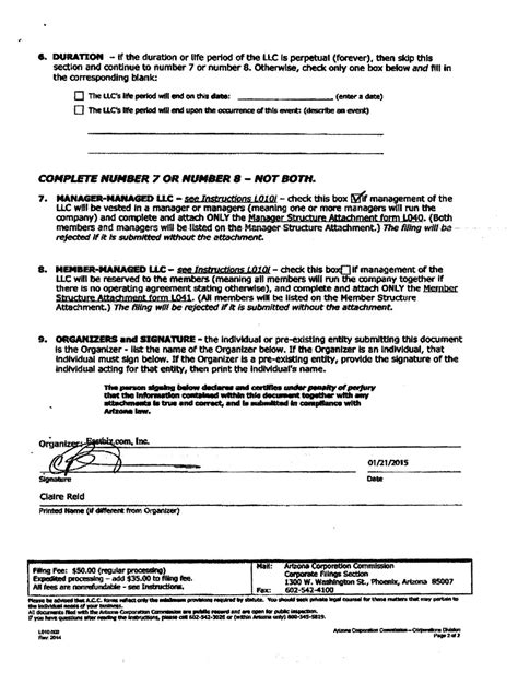 States Archive Page 2 Of 110 Incparadise Iowa Llc Certificate Of Organization Template