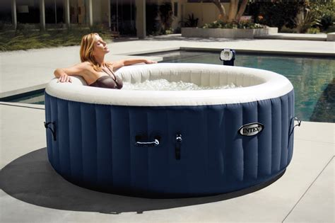 heated jacuzzi bathtub intex pure spa 4 person inflatable portable heated bubble