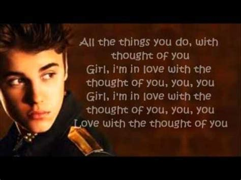 krafta justin bieber thought of you justin bieber thought of you letra youtube