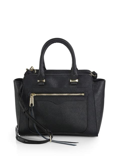 rebecca minkoff mini avery tote rebecca minkoff mini avery saffiano leather tote in black