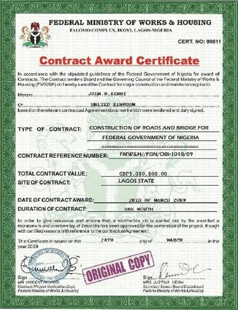 Award Letter To Contractor Malaysia Dating Scammer Kenny Williams