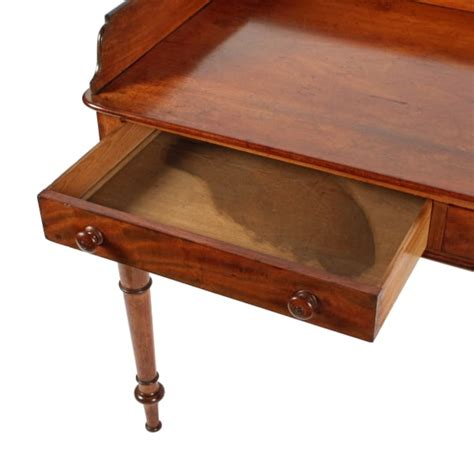 Two Drawer Table by Antique Side Table Two Drawer Table