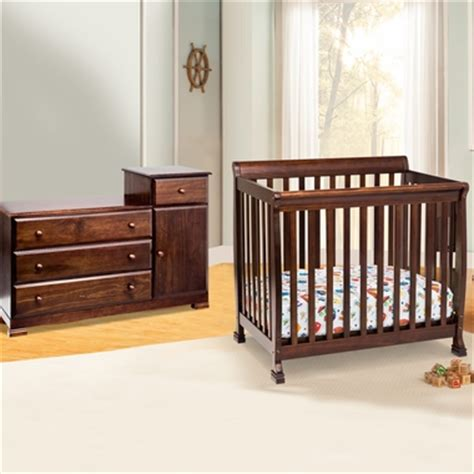 Mini Crib Combo Da Vinci 2 Nursery Set Kalani Mini Crib And Combo Changer Dresser In Espresso Free Shipping