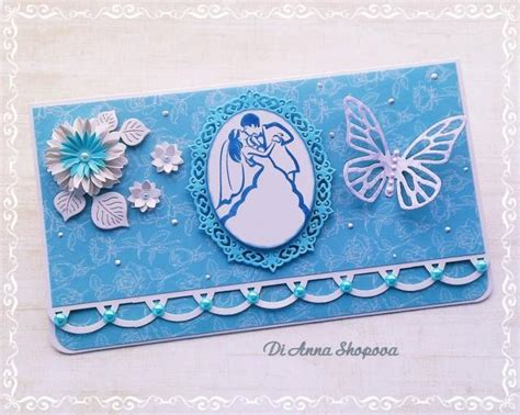 Wedding Card With Money by Wedding Card Handmade Blue Wedding Card Wedding Gift