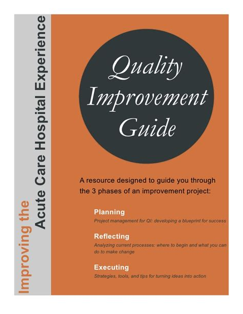 quality improvement project guide