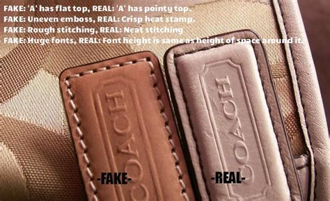 How To Tell If A Is Real Leather by How To Spot A Coach Bag Pictures And Here