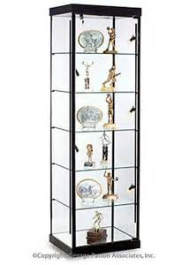 Display Cabinet Not On The High This Modern Trophy With Built In Lights Has Five