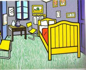 bedroom at arles roy lichtenstein using comics to fuse high and low art engl388
