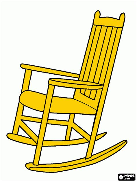 free coloring pages of rocking chair