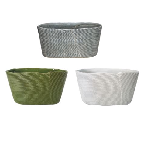 Wrap Around Planter by Lotus International 187 Oval Plonsk Wrap Planter