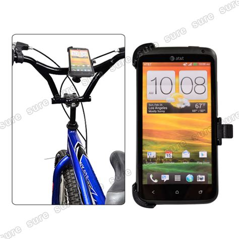 bicycle bike motorcycle mount holder for htc one x s720e 360 degree black ebay