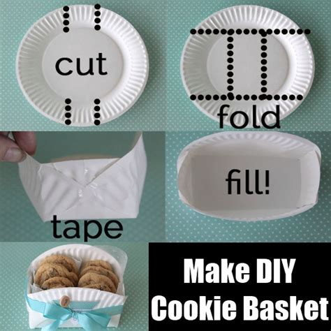 How To Make Paper Plates At Home - make diy cookie basket