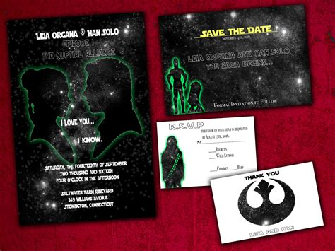 staggering wars wedding invitations theruntime