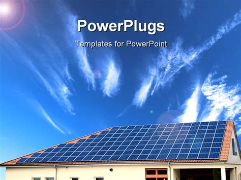 Solar Panel Powerpoint Template powerpoint template alternative energy solar panel with