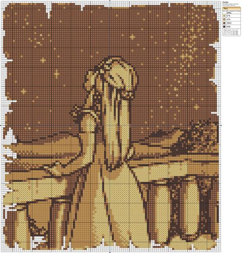 zelda cross stitch pattern zelda by makibird stitching on deviantart