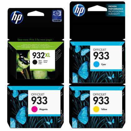 Hp Ink 933 Black hp 932xl 933 original ink cartridge combo high yield bk and standard yield c m y