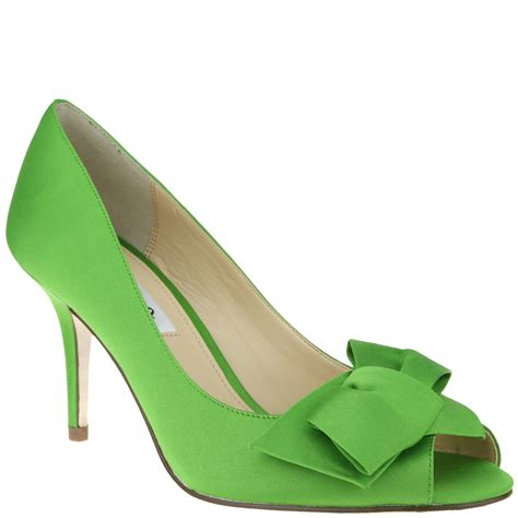 apple green shoes nina shoes fraser in green apple green luster satin lyst