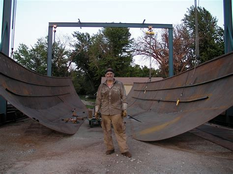 backyard boat building determined and crew are building a 74
