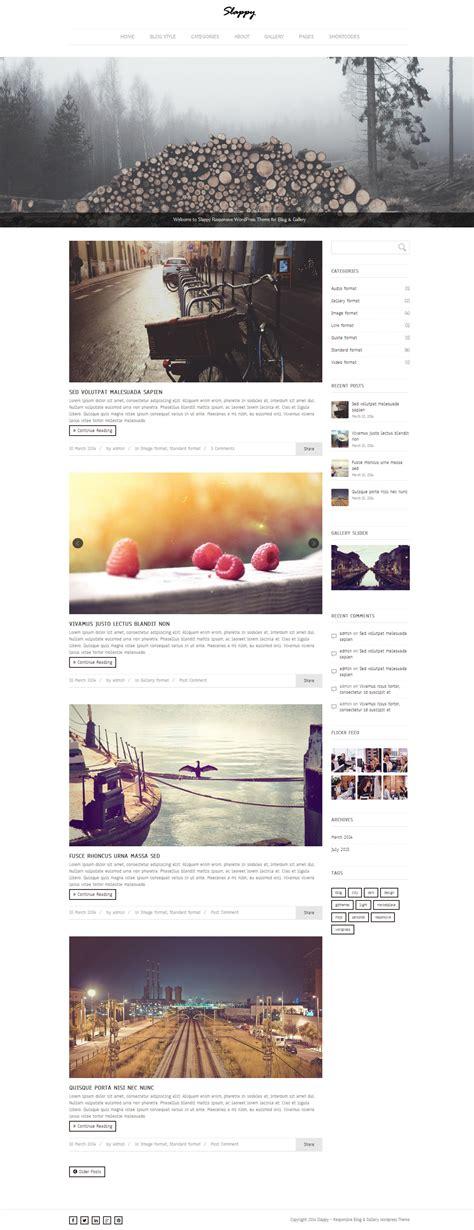 slappy blog gallery wordpress theme themes templates