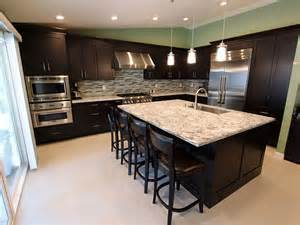 Kitchen Paint Colors With Maple Cabinets by Rowland Heights Modern Black L Shaped Kitchen With Custom