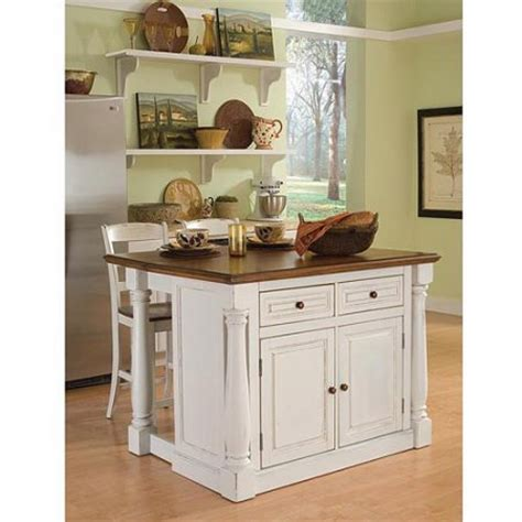 Kitchen Island Price Home Styles Monarch Antiqued White Kitchen Island And 2