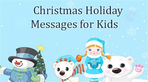 messages for children messages for