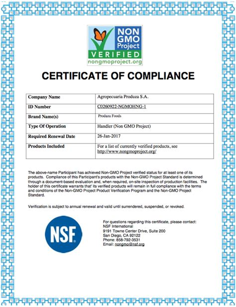 non certification letter produza foods chia seeds from farm to your table