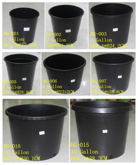 Planter Size by China Supplier Cheapest 1 2 3 5 7 10 15 20 25gallon