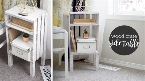 crate end table diy diy wood crate end table or nightstand easy